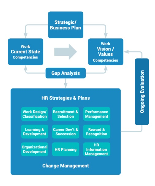 infographic of Strategic HR Planning and Evaluation Cycle